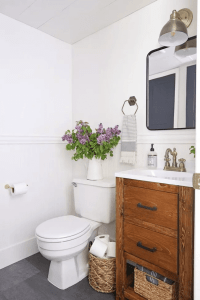 SMALL BATHROOM MAKEOVER ON A BUDGET BRIGHT WHITE COLOR IDEAS