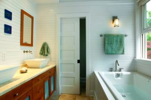 SMALL BATHROOM REMODEL IDEAS WITH POCKET DOORS