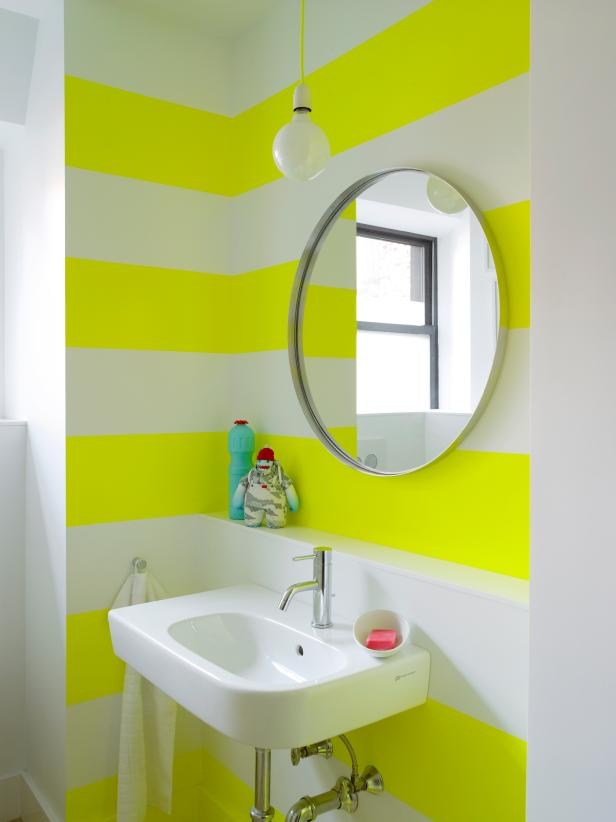 YELLOW WALL COLOR IDEAS FOR SMALL BATHROOM