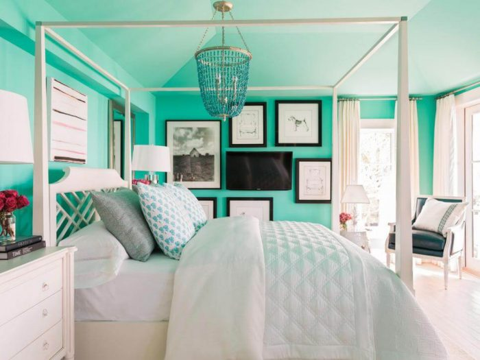 FRESH GREEN AND WHITE IDEAS FOR TEENAGE GIRLS BEDROOM DECORATION