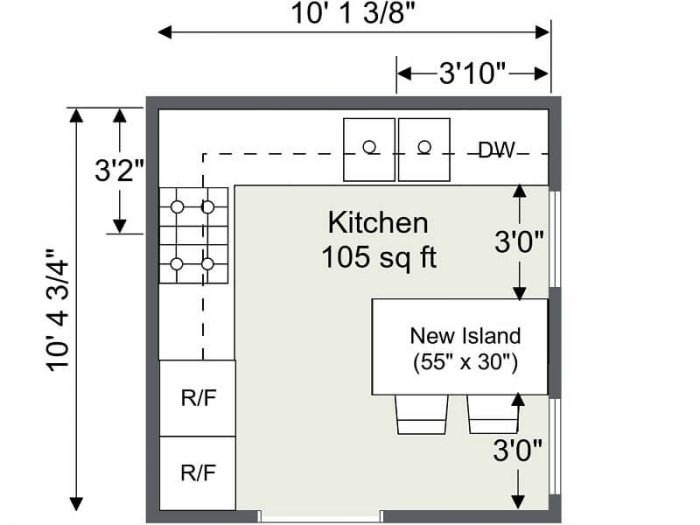 SMALL KITCHEN FLOOR PLANS 2D ROOMSKETCHER