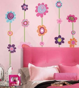 WALL DECALS PRETTY WALLPAPERS FOR TEEN GIRLS BEDROOM DECORATION SMALL SPACE