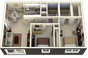 THE TIPS FOR SMALL HOUSE PLANS WITH 2 BEDROOMS