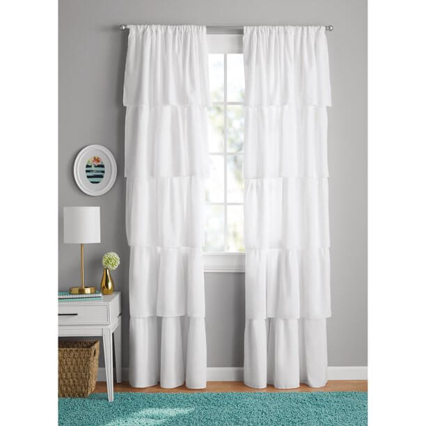 CHANGE BLINDS AND CURTAIN TO REMOVE CIGARETTE STAINS AND ODORS