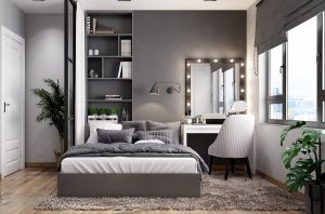 RE-ORGANIZE THE VANITY FOR SMALL LUXURY BEDROOM IDEAS