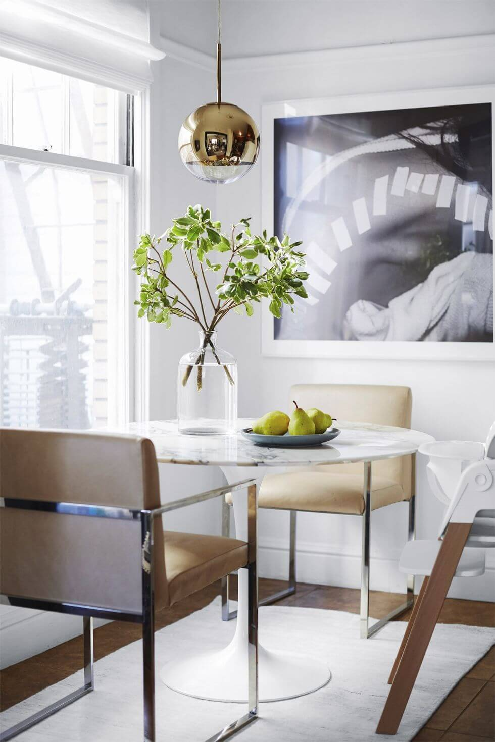 BOLD STYLE DINING ROOM SMALL SPACE IDEAS