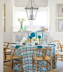 CUTE TABLE CLOTH DINING ROOM DECOR SMALL SPACE