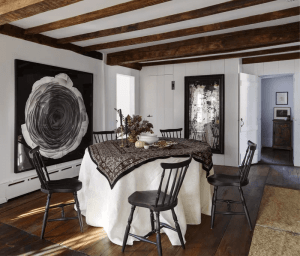 EXPOSE THE BEAM FOR FARMHOUSE DINING ROOM STYLE IDEAS