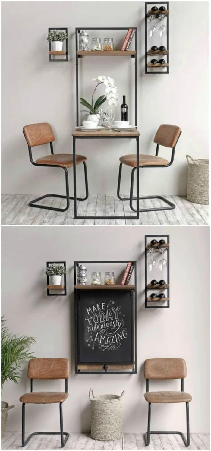 FOLDABLE DINING TABLE DESIGN IDEAS FOR SMALL SPACE