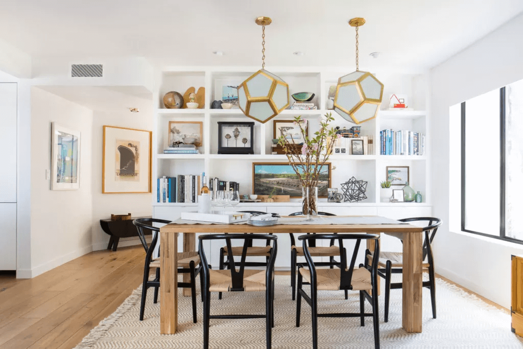 GEOMETRIC PENDANT LIGHTING IDEAS FOR SMALL DINING ROOM