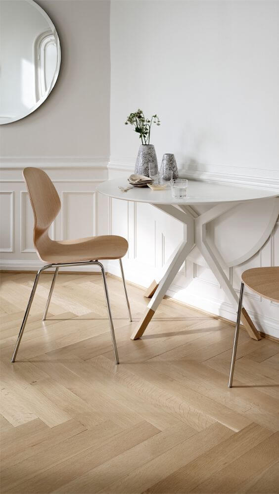 HALF CIRCLE DINING TABLE DESIGN IDEAS FOR SMALL SPACE