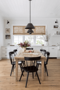 MODERN TOUCH FARMHOUSE DINING ROOM DECOR IDEAS SMALL SPACE