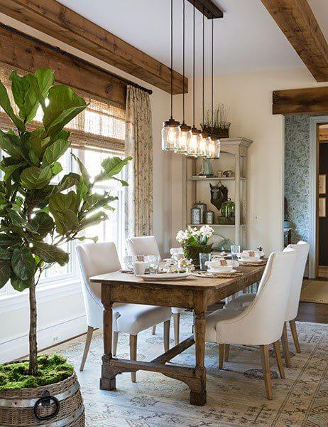 RUSTIC SMALL DINING ROOM DECORATION FARMHOUSE IDEAS