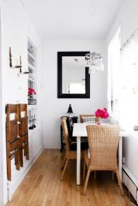 TABLE AGAINST WALL SMALL DINING ROOM DESIGN IDEAS