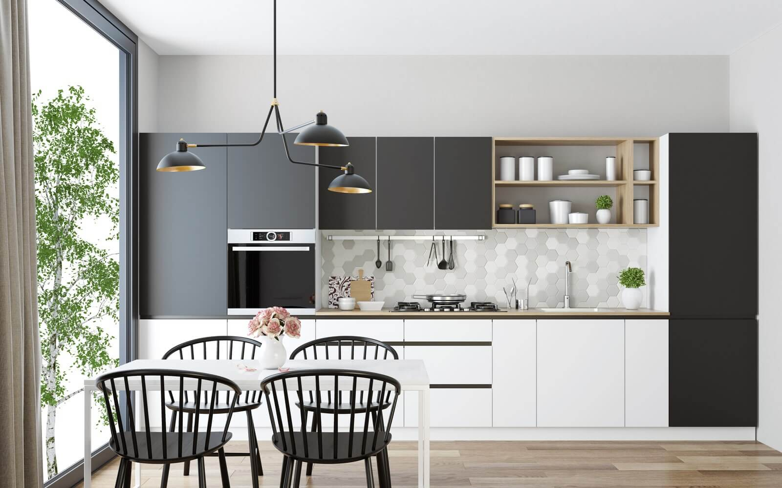 THREE IN ONE PENDANT LIGHTING IDEAS FOR SMALL DINING ROOM