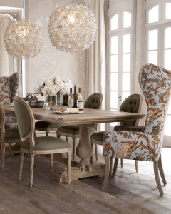 UPHOLSTERY FARMHOUSE DINING ROOM DECOR SMALL SPACE