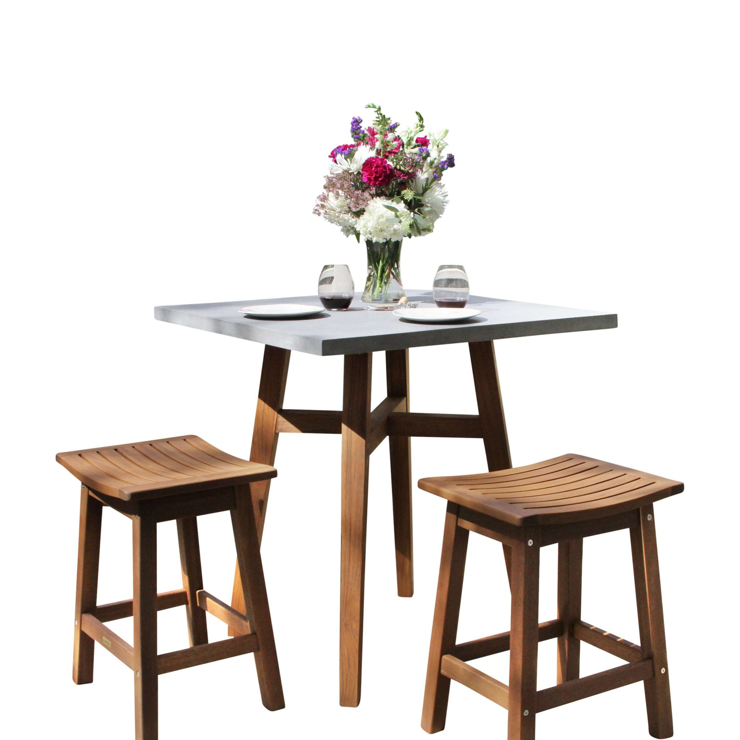 HIGH COUNTER DINING TABLE SET OUTDOOR FOR SMALL SPACE