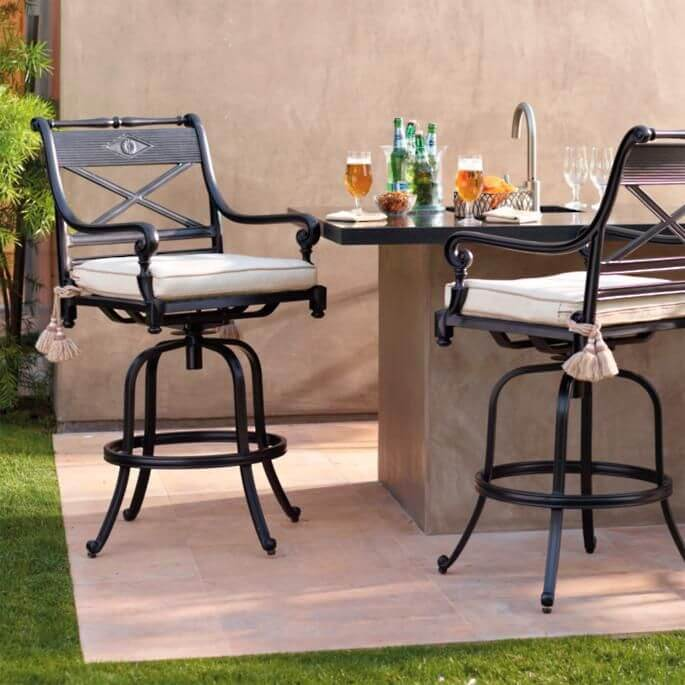 OUTDOOR PRETTY BAR DINING TABLE SET FOR SMALL SPACES