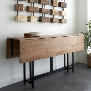RUSTIC FOLDING DINING TABLE IDEAS SPACE SAVERS
