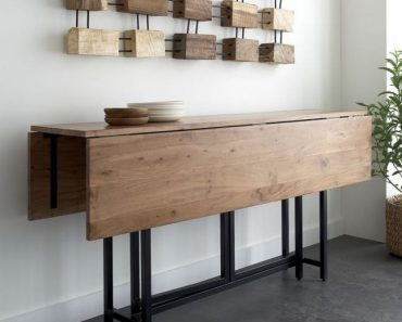 UNIQUE AND PRACTICAL FOLDING DINING TABLE SPACE SAVERS
