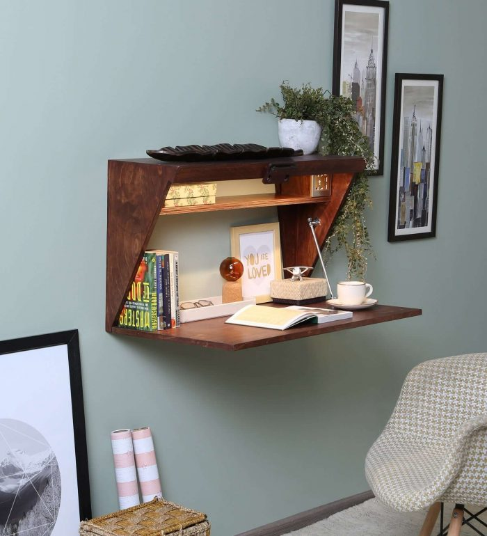 WALL MOUNTED TABLE IDEAS FOR SMALL HOUSE SPACE SAVING