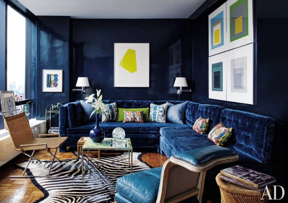 BLUE IDEAS FOR SMALL HOUSE LIVING ROOM DECORATION