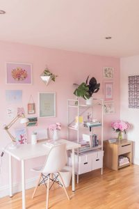 COLORFUL WORKING SPACE BEDROOM SMALL HOME OFFICE