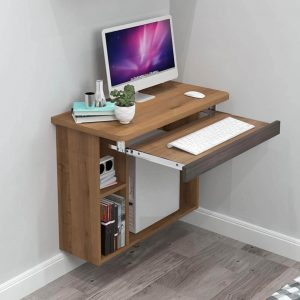 DESKTOP IN WALL MOUNTED INSTALLATION BEDROOM SMALL HOME OFFICE
