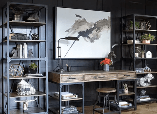INDUSTRIAL CONCEPT SMALL HOME OFFICE FURNITURE SETS
