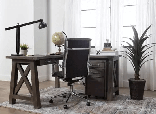 SMALL HOME OFFICE FURNITURE SETS WITH COMFY CHAIR