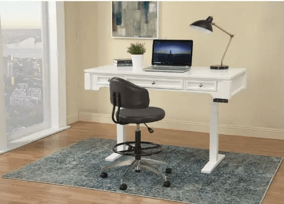 SMALL HOME OFFICE FURNITURE SETS WITH FLOATING CHAIR AND DESK