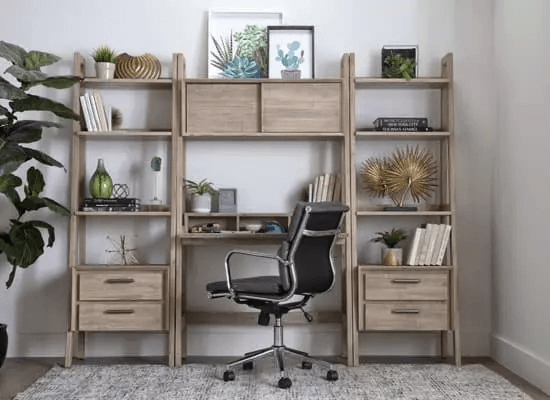 SMALL HOME OFFICE FURNITURE SETS WITH MIX MATERIALS
