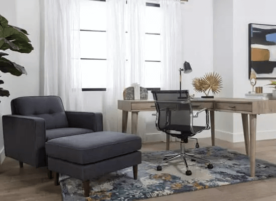 SMALL HOME OFFICE FURNITURE SETS WITH SOFA