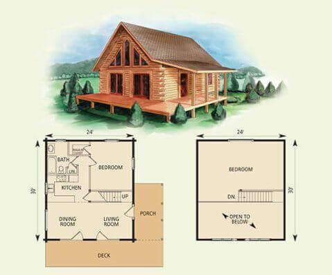 A WEST VIRGINIAN STYLE SMALL HOUSE PLANS WITH LOFT AND WRAP AROUND PORCH