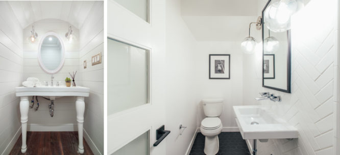 SMALL HOUSE ADDITIONS WITH POWDER ROOM UNDER THE STAIRS