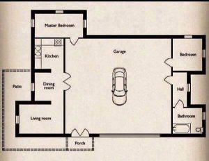 SMALL HOUSE BIG GARAGE IN THE MIDDLE PLANS