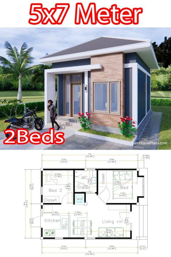 SMALL HOUSE DIMENSION OPTIONS 15X23 FT