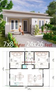 SMALL HOUSE DIMENSION OPTIONS 24X26 FT