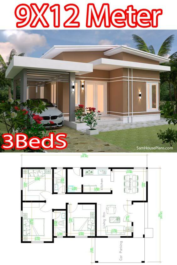 SMALL HOUSE DIMENSION OPTIONS 30x40 ft