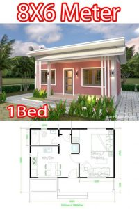 SMALL HOUSE DIMENSION OPTIONS 8X6 m