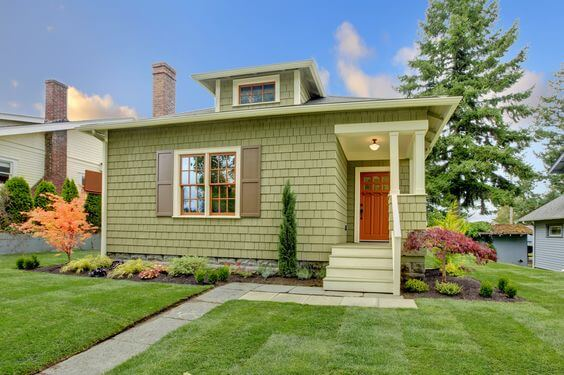 SMALL HOUSE EXTERIOR COLORS PALE GREEN