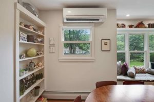 SMALL HOUSE HEATING OPTIONS. HEAT PUMP REGULAR ABOVE THE WINDOW PLACEMENT