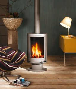 SMALL HOUSE HEATING OPTIONS. STOVE GOES MODERN