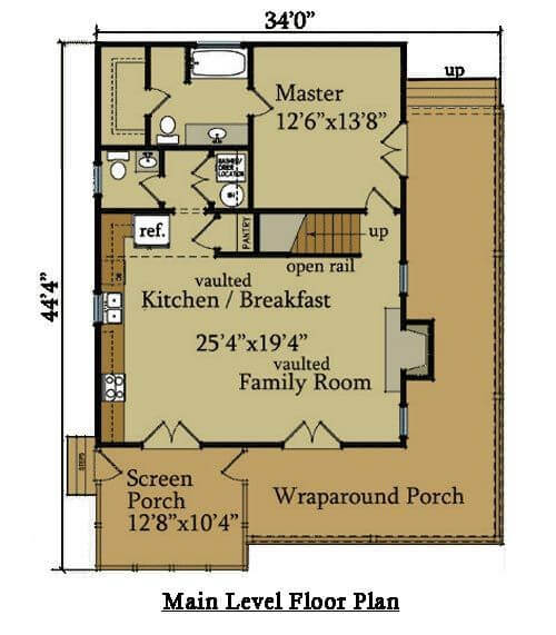 SMALL HOUSE PLANS WITH LOFT AND WRAP AROUND PORCH AND WITH A BEDROOM IN EVERY FLOOR