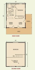 SMALL LOG HOUSE PLANS WITH LOFT AND WRAP AROUND PORCH
